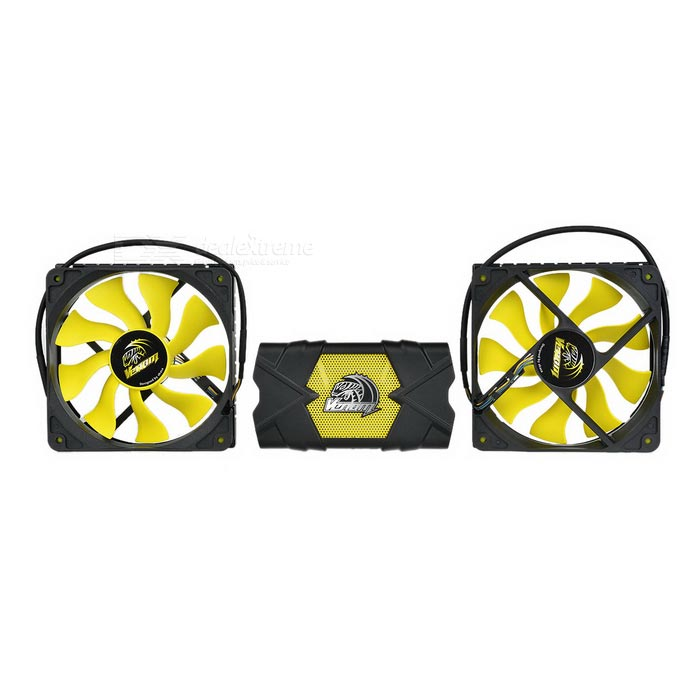 Akasa Venom Voodoo Extreme Performance CPU Cooler - Black + Yellow