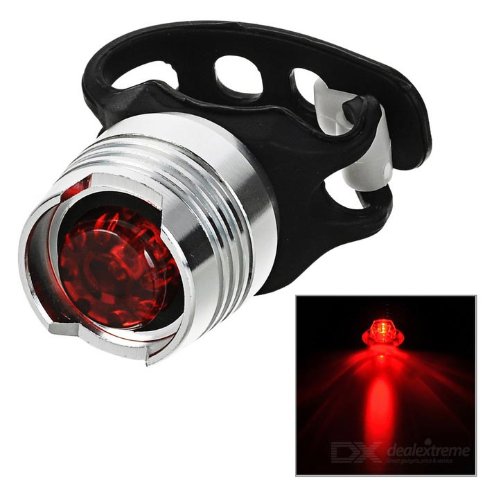 FJQXZ LED 3-Mode Red White Bike Helmet / Taillight Lamp