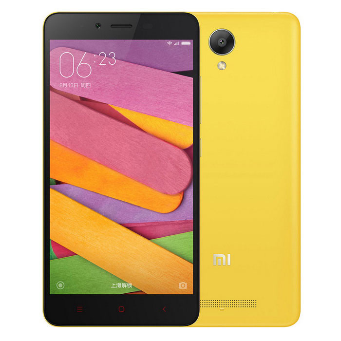 Buy Xiaomi Redmi Note2 Android 5.0 4G Phone w/ 2GB RAM, 16GB ROM - Yellow with Litecoins with Free Shipping on Gipsybee.com