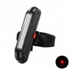 Leadbike USB Powered 30-LED de 6 modos de luces de luz roja de la bicicleta - Negro