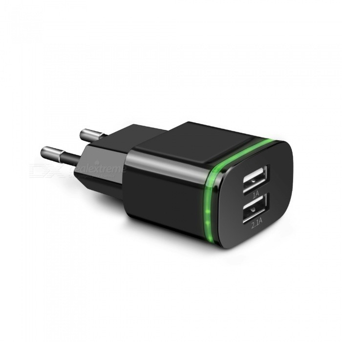Cwxuan USB 2.0 2-Port 5V Fast-Charging EU Plug Power Charger - BlackAC Chargers<br>Form ColorBlackModelN/AMaterialPlasticQuantity1 DX.PCM.Model.AttributeModel.UnitCompatible ModelsUniversalOutput Current2 DX.PCM.Model.AttributeModel.UnitOutput Power5 DX.PCM.Model.AttributeModel.UnitInput Voltage110~240 DX.PCM.Model.AttributeModel.UnitOutput Voltage5 DX.PCM.Model.AttributeModel.UnitPower AdapterEU PlugOther FeaturesSuitable for IPHONE, IPAD, IPOD, tablet PC, PDA and bluetooth devices.Packing List1 x Charger<br>