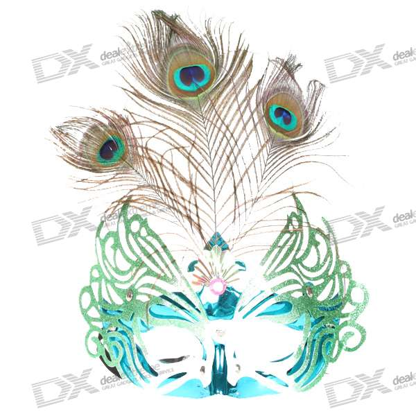 Peacock Feather Crown Eye Mask Color Assorted Free Shipping