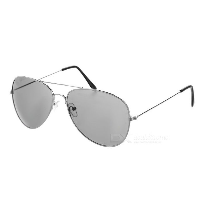 Oulaiou Men's Fashion UV400 Protection Sunglasses - Silver + Grey