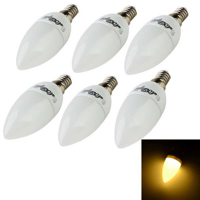 YouOKLight E14 3W 3000K 200lm SMD 2835 Warm White Bulb(220V / 6PCS)