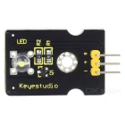 Keyestudio Digital White LED Light Module for Arduino - Black