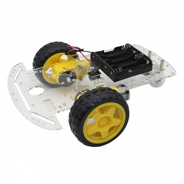 DIY 2WD Smart Robot Car Chassis Kit for Arduino - Black + Yellow