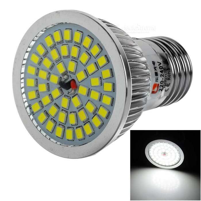 Buy LeXing Lighting Dimmable E27 7W LED Spotlight Cold White 48-SMD with Litecoins with Free Shipping on Gipsybee.com