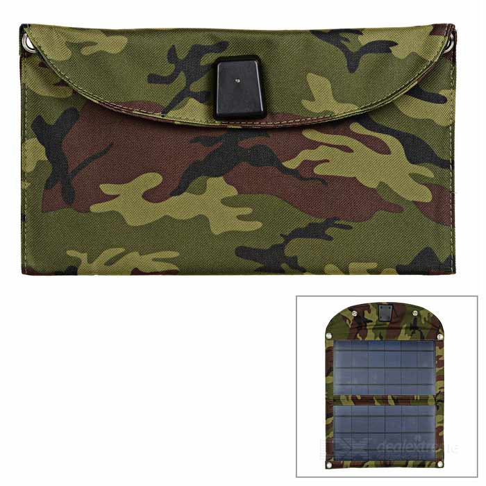 16W 5.2V 3.1A 2-Plate Solar Power Panel - Woodland Camouflage