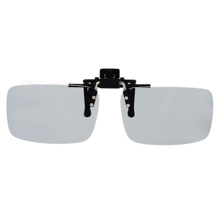 Buy Anti-Dazzle Light Resin Clip-on Polarized Sunglasses - Grey with Litecoins with Free Shipping on Gipsybee.com