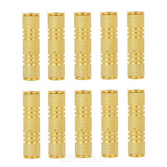 3.5mm Female to Female Gilded Adapters - Gold (10PCS)