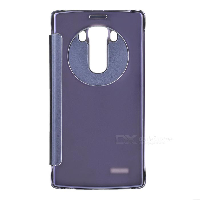Plating Flip Open Mirror Cover ABS + PU Case for LG G4