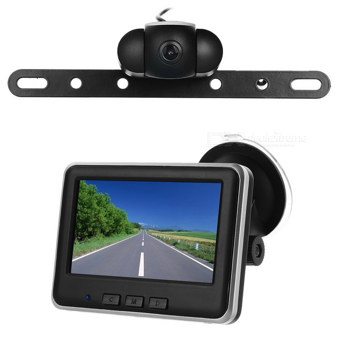 "External 4.3"" Wireless CMOS 120' Wide-Angle Car Backup Camera - Black"