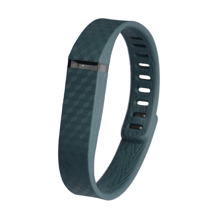 3D Stereo Texture Silicone Wristband for Fitbit Flex - GreyWearable Device Accessories<br>Form ColorGreyQuantity1 DX.PCM.Model.AttributeModel.UnitMaterialTPE + TPUPacking List1 x Wristband<br>