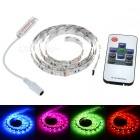 12W Flexible LED Light Strip RGB 60-SMD w/ 10-Key Remote - White (1m)