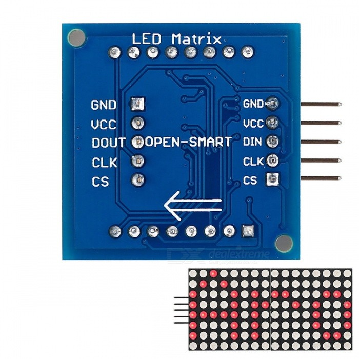 1 8 8X8 Red LED Matrix Display Module with SPI interface for Arduino