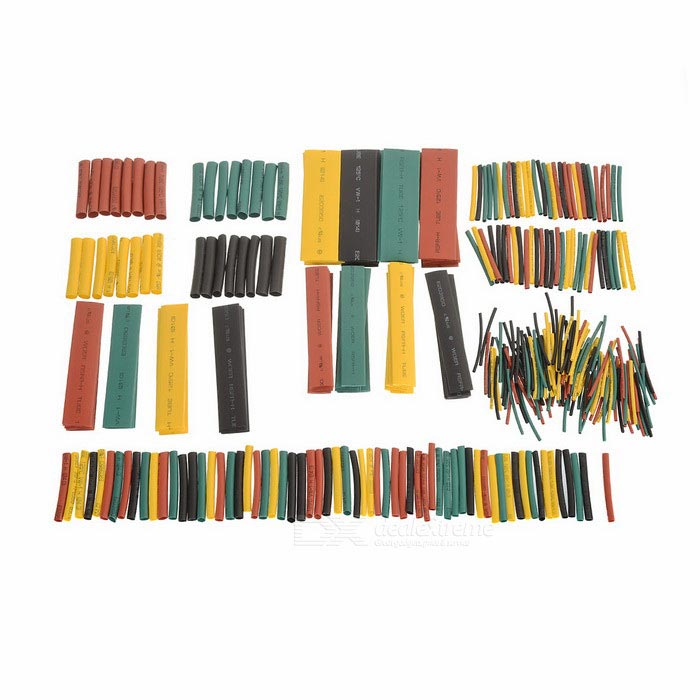 Polyolefin Halogen-Free Heat Shrink Tube Sleeving Set (328 PCS,8 Size)DIY Parts &amp; Components<br>Quantity328 DX.PCM.Model.AttributeModel.UnitForm ColorOthersMaterialPolyolefinEnglish Manual / SpecNoCertificationN/APacking List328 x Tubes<br>