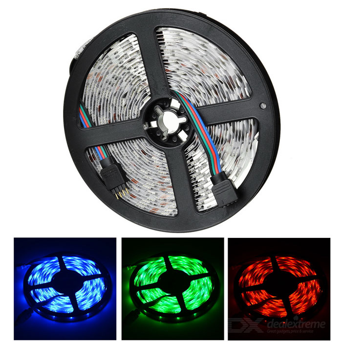 Buy JIAWEN 35W LED Light Strip RGB 300-SMD 5050 (DC 12V / 5M) with Litecoins with Free Shipping on Gipsybee.com