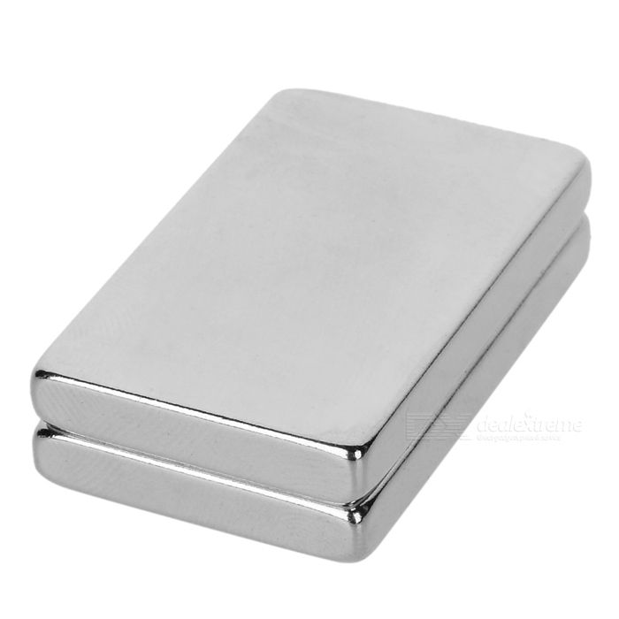 40 * 25 * 5mm NdFeB magneter - silver (2st)