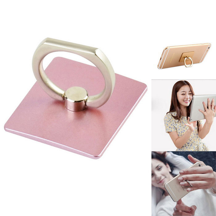 Finger Ring Style 360 Rotary Holder for Phone / Tablets - PinkMounts &amp; Holders<br>Form ColorPinkModelN/AMaterialAlloy + ABSQuantity1 DX.PCM.Model.AttributeModel.UnitMount TypeDesktopCompatible ModelsUniversalOther Features- 4K alloy, supports device stably;<br>- Adjustable angle;<br>- Paste without a trace;<br>- Can be used repeatedly.Packing List1 x Mount<br>