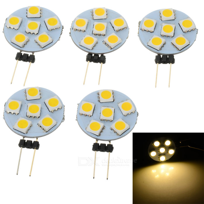 Buy G4 0.5W Insert LED Light Source Module Warm White 3300K 6-SMD (5PCS) with Litecoins with Free Shipping on Gipsybee.com