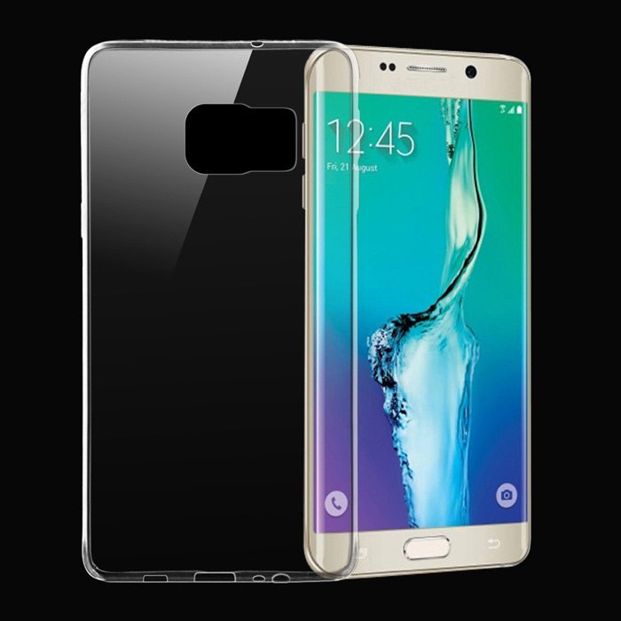 Ultra-thin TPU Back Case for Samsung Galaxy S6 Edge+ - Transparent