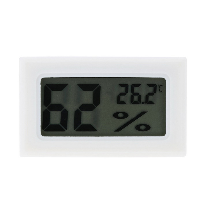 Mini Digital Thermometer Hygrometer Humidity Temperature MeterTemperature Instruments<br>Form  ColorWhiteModelN/AQuantity1 DX.PCM.Model.AttributeModel.UnitMaterialABSScreen Size1.6 DX.PCM.Model.AttributeModel.UnitCelsius Range-50C~ 70CFahrenheit Range0 DX.PCM.Model.AttributeModel.UnitAuto Power OffNoPowered ByOthers,LR44Battery Number1/2Battery included or notNoPacking List1 x Digital Thermometer Hygrometer1 x English manual<br>