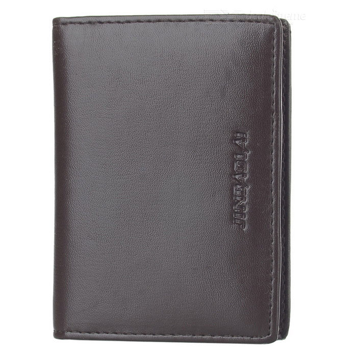JINBAOLAI Men's Fashionable PU Cards Holder Cash Clip Wallet - Coffee