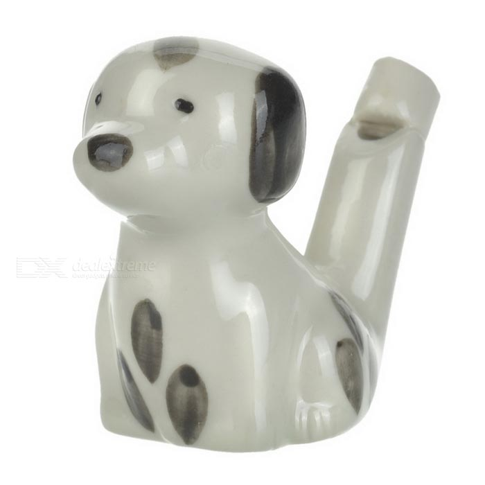Ceramic Dog Style Water Injection Birdcalls Whistle for Kid