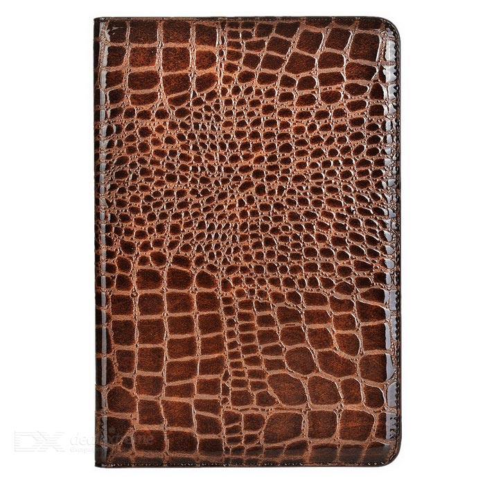 Alligator Pattern Protective Case w/ Stand for IPAD MINI 4 - Brown