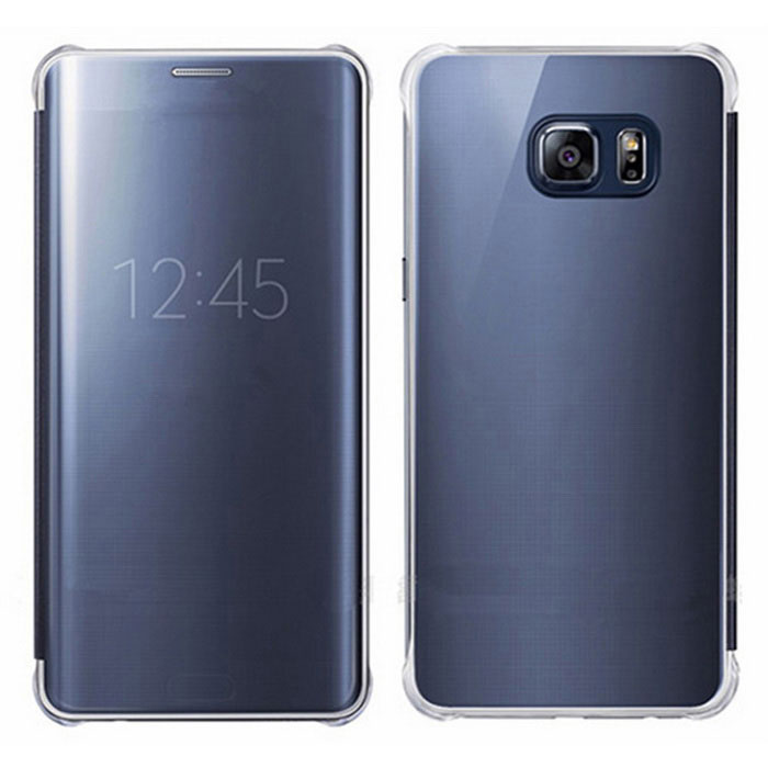 Mirror Cover Clear Case for Samsung Galaxy S6 Edge Plus - Blue