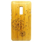 Dandelion-Pattern-Detachable-Bamboo-Back-Case-for-Oneplus-Two-Yellow