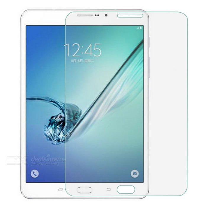 Tempered Glass Screen Protector for Samsung TAB S2 8.0/t710/t715Screen Protectors<br>Quantity1 DX.PCM.Model.AttributeModel.UnitForm ColorTransparentMaterialTempered glassCompatible BrandSamsungScreen TypeClearCompatible Size8 inchFunctionDustproof,Scratch-proofPacking List1 x Screen protector1 x Cleaning cloth1 x Dust sticker<br>