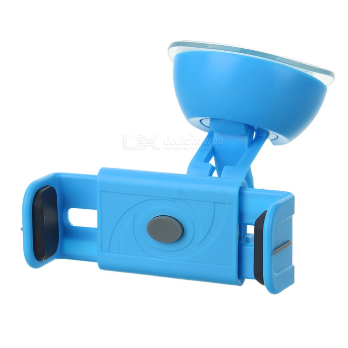 360 Rotary Car Suction Cup Auto Lock Mount for Phones  GPS White Blue