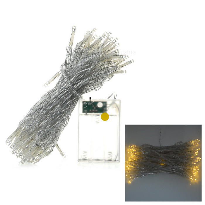 Buy 5W 80-LED 3500K Warm White String Light for Decoration -Yellow (10m) with Litecoins with Free Shipping on Gipsybee.com
