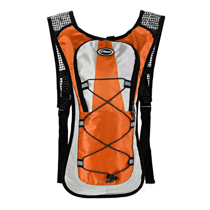 CTSmart Multi-Function Bike Bag Backpack for Water Bladder - OrangeBike Bags<br>Form ColorOrange + Grey + Multi-ColoredQuantity1 DX.PCM.Model.AttributeModel.UnitMaterialPolyesterTypeOthers,Bike backpackCapacity5 DX.PCM.Model.AttributeModel.UnitWaterproofYesGenderUnisexBest UseCycling,Mountain Cycling,Recreational Cycling,Road CyclingCertificationCEPacking List1 x Backpack<br>