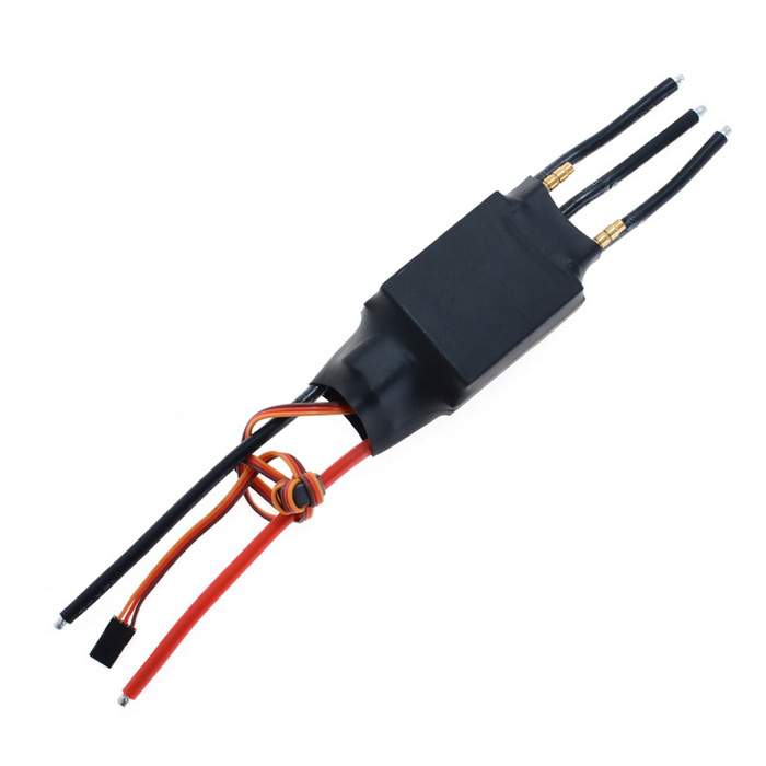 HJ 200A Water-Cooling Speed Controller ESC for R/C Boat Model - Black