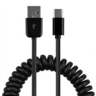 Cwxuan USB-C 3.1 Type C M to USB 2.0 A M Spring Cable - Black (1m)