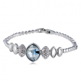 Xinguang-Olive-Mosaic-Style-Crystal-Bracelet-for-Women-Silver