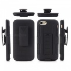 Rugged Armor Hard Cover Case w/ Belt Clip / Stand for IPHONE 6 - Black