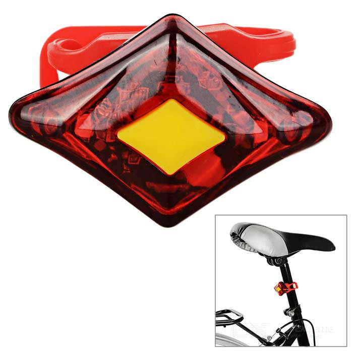 SOLDIER SJ-10269 USB 2-LED rood licht 3-Mode fiets lamp - rood