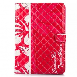 Protective-PU-Case-w-Stand-Card-Slots-for-IPAD-AIR-2-Red-2b-White