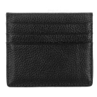 JINBAOLAI Litchi Pattern Cow Leather Cards Holder Wallet - Black