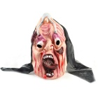 Wagging Tongue Style Scarface Gummi Mask for Cosplay Kostyme - Svart