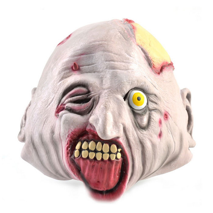 Variated Monster Rubber Mask for Cosplay Costume Party - Flesh