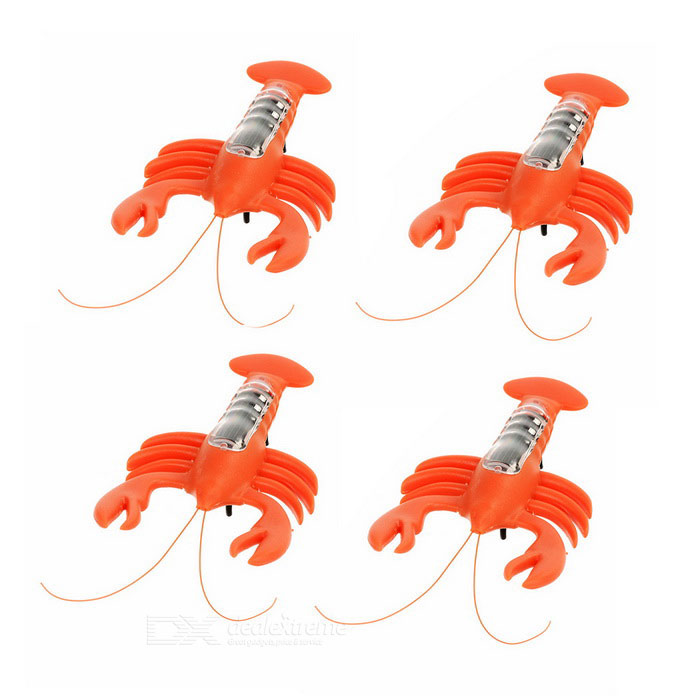 Novel Lobster Solar Powered Toy - Orange (4PCS)