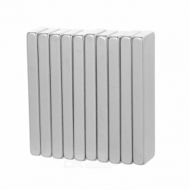 40*10*4mm Rectangular Strong NdFeB Magnet - Silver (10PCS)