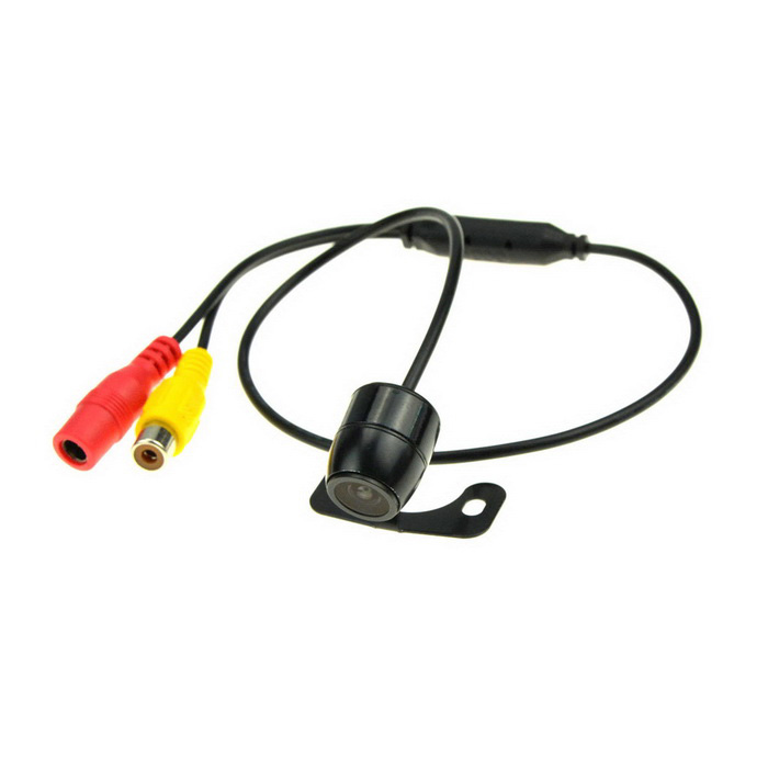 0.6W 18.5 Drilling Night Vision Car Reversing Rearview Camera - Black