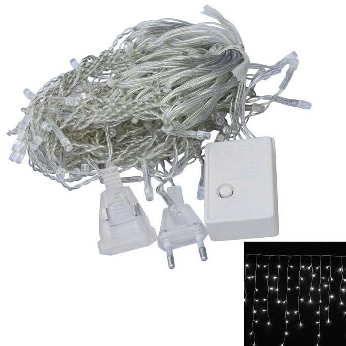 JIAWEN 4W 100-LED 8-Mode White Light Christmas String Light (3m) - Transparent