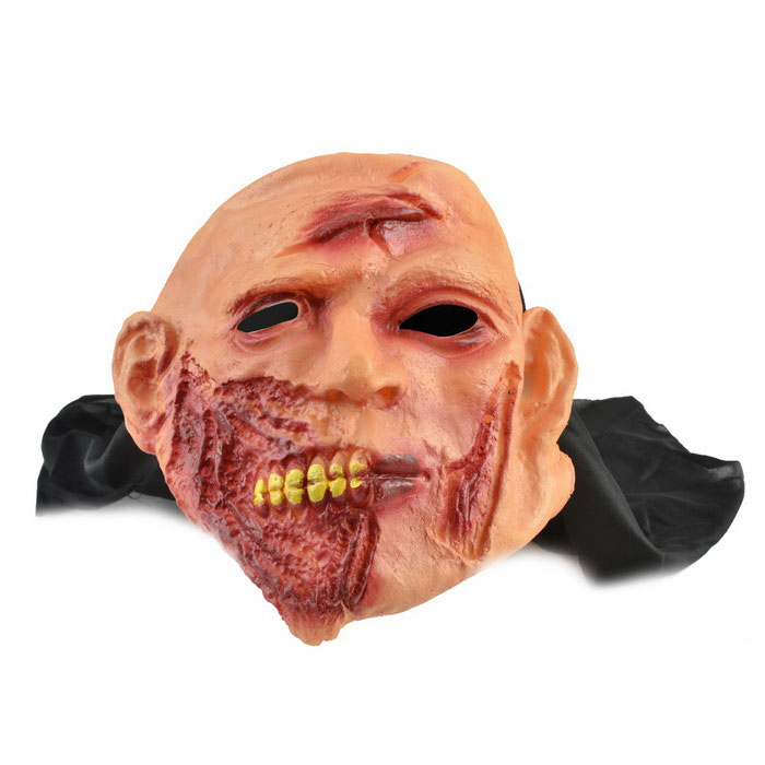 scarface gummi maske for cosplay / halloween kostyme party - gul