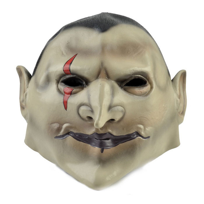 Nuadha Airgetlam Rubber Mask for Cosplay Costume Party - Black